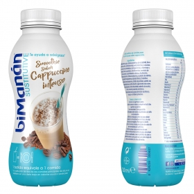 Batido sustitutivo sabor cappuccino intenso Bimanán 330 ml.