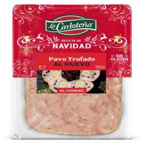 Loncheado asado de pollo con pasas, jamón serrano y shitake La Carloteña 125 g
