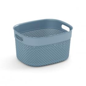Cesta Filo Rectangular 6L 27x22x15 Cm - Kiss S. Azul Bruma