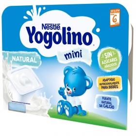 Postre lacteo natural desde 6 meses Nestlé Yogolino mini sin gluten pack de 6 unidades de 60 g.