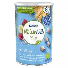 Snack de cereales con frambuesa ecológico Nutripuffs Naturnes Bio Nestlé 35 g.