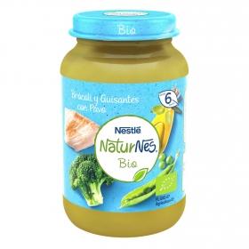 Tarrito de brócoli y guisantes con pavo desde 6 meses ecológico Naturnes Nestlé 190 g.