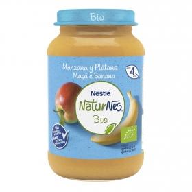 Tarrito de manzana y plátano desde 4 meses ecológico Naturnes Nestlé 190 g.