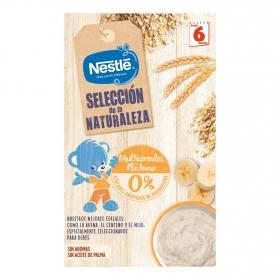 Papilla infantil desde 6 meses de cereales y plátano sin azúcares añadidos Nestlé 330 g.