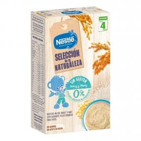 Papilla infantil desde 4 meses de cereales con arroz y maíz sin azúcares añadidos Nestlé sin gluten 330 g.