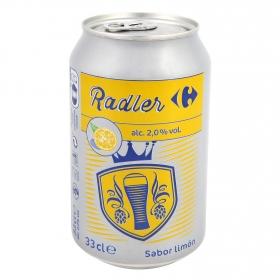 Cerveza Carrefour Radler con limón lata 33 cl