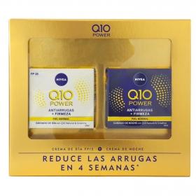 Estuche Power Nivea Q10 (Crema de día antiarrugas FP 15 50 ml + Crema de noche antiarrugas) 1 ud.