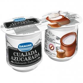 Cuajada azucarada Danone sin gluten pack de 2 unidades de 135 g.
