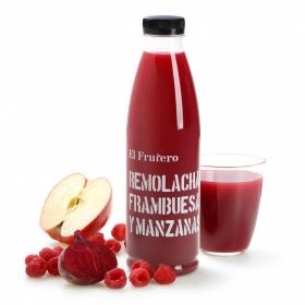 Zumo de remolacha, frambuesa y manzana El Frutero botella 75 cl.