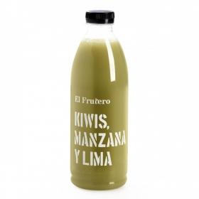 Zumo de kiwi, manzana y lima El Frutero botella 1 l.