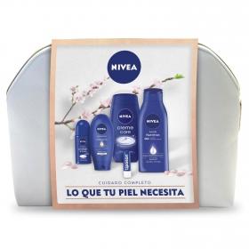 Neceser Nivea (Crema corporal 400 ml +Gel de ducha 250 ml + Crema de manos 100 ml+ Desodorante 50 ml + Bálsamo labial 4,8 g) 1 ud.