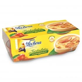 Tartaleta de manzana La Lechera pack de 4 unidades de 85 g.