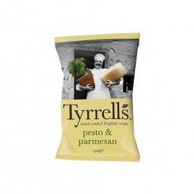 Patatas fritas sabor pesto y parmesano Tyrrell's 150 g.