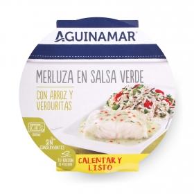 Merluza en salsa verde con arroz y verduritas Aguinamar 250 g