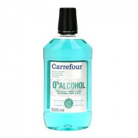 Enjuague bucal 0% Alcohol Carrefour 500 ml.