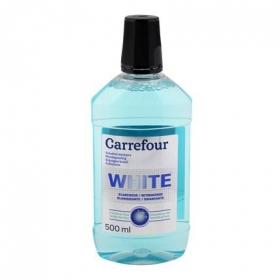 Enjuague bucal blanqueador Carrefour 500 ml.
