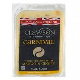 Queso stilton blanco mango y genjibre Clawson 150 g