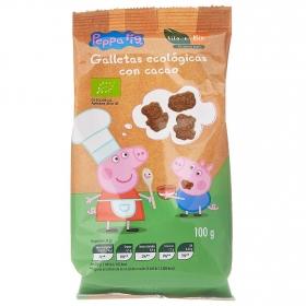 Galletas con cacao ecológicas Pepa Pig Maxies 100 g.