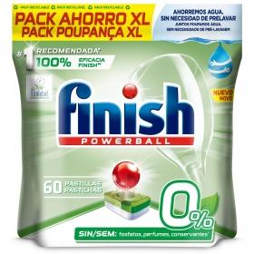 Lavavajillas máquina 0% en pastillas Calgonit Finish 60 ud.
