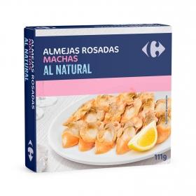 Almejas rosadas machas al natural Carrefour 63 g.