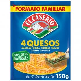Queso rallado 4 quesos especial gratinar El Caserío 150 g.