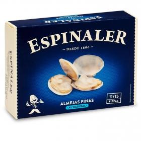 Almejas finas al natural Espinaler 65 g.