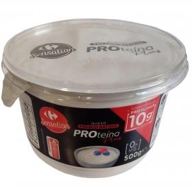 Queso fresco batido desnatado Proteína Plus Carrefour 500 g.