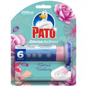 Discos activos inodoros aroma Floral Fantasy aparato + recambio Pato 1 ud.