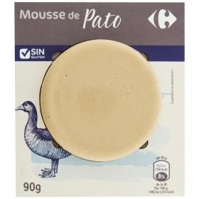 Mousse de pato sin gluten Carrefour 90 g.