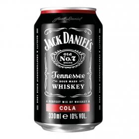 Combinado Jack Daniel's whisy con cola lata de 33 cl.