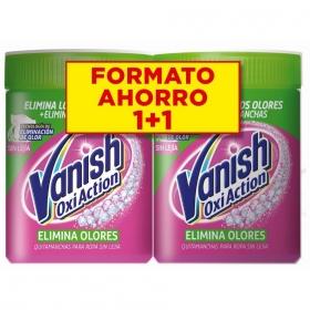 Quitamanchas en polvo elimina olores Vanish OxiAction pack 2 unidades de 420 g.