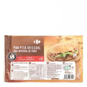 Pan pita integral Carrefour 400 gr