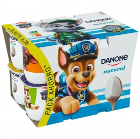 Yogur natural Danone pack de 12 unidades de 125 g.