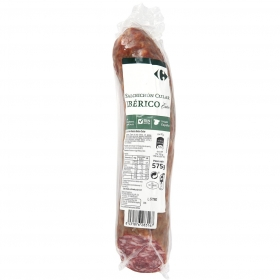 Salchichon cular iberico extra carrefour sin gluten 575 g.