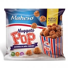 Pop nuggets crujientes de pollo congelados Maheso 300 g.