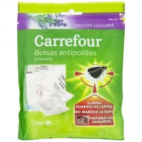 Antipolillas bolsitas perfumadas lavanda Carrefour pack de 24 ud.