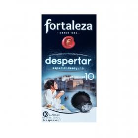 Café molido natural despertar en cápsulas Fortaleza compatible con Nespresso Fortaleza 10 unidades de 5 g.
