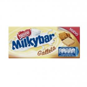 Chocolate blanco con galleta Nestlé Milkybar 100 g.