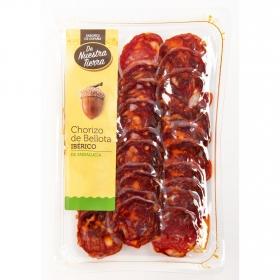 Chorizo de bellota ibérico en lonchas De Nuestra Tierra 100 g