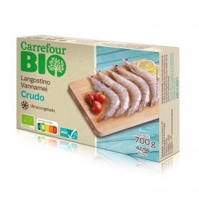 Langostino crudo ecológico Carrefour Bio 700 g.