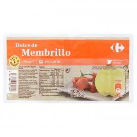 Dulce de membrillo Carrefour sin gluten 400 g.