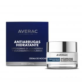 Crema de noche anti-arrugas hidratante Averac 50 ml.