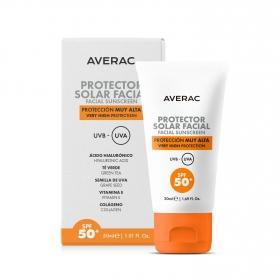 Crema solar facial SPF 50+ Averac 50 ml.