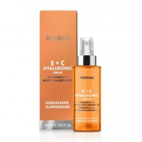 Serum hidratante iluminador E+C Averac 30 ml.