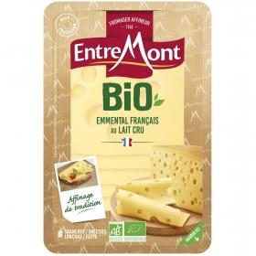 Queso en lonchas emmental ecológico Entremont 120 g.