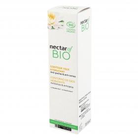 Contorno de ojos hidratante antibolsas & antiojeras ecológico  Nectar Of Bio 15 ml.