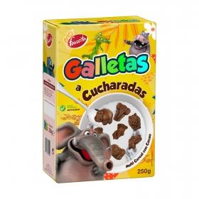 Galletas a cucharadas multicereales con cacao Gullón 250 g.