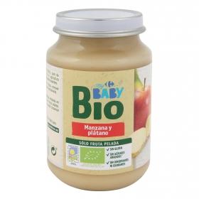 Tarrito de manzana y plátano ecológico Carrefour Baby Bio 200 g.