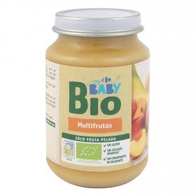Tarrito multifrutas ecológico Carrefour Baby Bio 200 g.