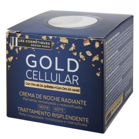 Crema de noche facial Gold Cellular Les Cosmetiques 50 ml.